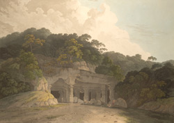 The entrance to the Elephanta Cave